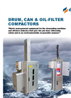 Delitek Oil, can & drum compactors