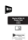Wachs - HCM-1G - Hydraulic Power Units Manual