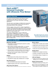 Hach - Model sc200 - Universal Controller with Ultrasonic Flow Sensor Datasheet