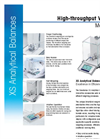 XS Analytical Balances : High-throughput Weighing Datasheet