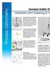 EasyMax HFCal Heat Flow Calorimetry for Process Safety Screening Datasheet