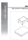 PBK9-Series - High precision weighing platforms User Manual