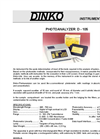 Model D-105 Photoanalyzer Data Sheet (PDF 239 KB)