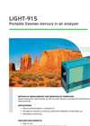 Lumex Instruments - Model LIGHT-915 - Portable Zeeman Mercury in Air Analyzer - Brochure