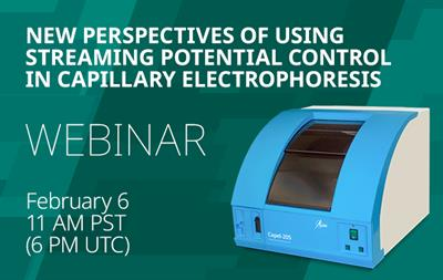 Live webinar: New perspectives in performing long sequences of capillary electrophoresis analyses using streaming potential control