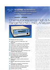 Model 200EH – 200EM - Chemiluminescene High & Medium Range NO–NO2–NOX Analyzers – Specification