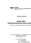 TAPI - Model T265 - Chemiluminescence O3 Analyzer - Manual