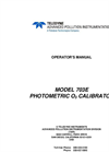 TAPI - Model 703E - Photometric Ozone Calibrator - Manual