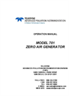 TAPI - Model 701 - Zero Air System - Manual