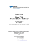 TAPI - Model T700 - Dynamic Dilution Calibrator - Manual