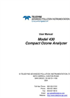 TAPI - Model 430 - Compact Ozone (O3) Analyzer - Manual