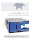 TAPI T200UP Trace-Level Photolytic NO/NO2 /NOX Analyzer Datasheet