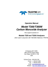 TAPI - Model T300 and T300M - Gas Filter Correlation CO Analyzer - Manual