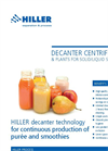 Decanter Centrifuge for Smoothies and Purees Production