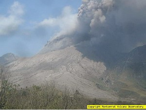 Caribbean volcano erupts and pollutes atmosphere