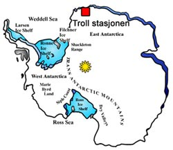 The Norwegian Troll station in the Antarctic opened
