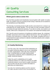 Air Quality Consulting Services: Overview Brochure (PDF 2.644 MB)