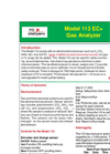 Model 113 - Portable O2, H2S, NH3, CO2 Analyzer Brochure