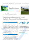 BVOC Flux Measurements with IONICON PTR-TOF 8000
