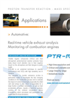 PTR-MS Applications: Automotive Exhaust Analysis