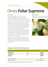 Supreme - Concentrated Suspension Foliar Fertiliser - Brochure