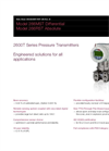 Differential Pressure Transmitters - 266MST Data Sheet