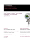 Gauge Pressure Transmitters - 266GST Data Sheet