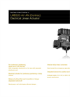 ABB - Model LME620-AI/-AN (Contrac) - Electrical Linear Actuator - Datasheet