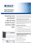 Brady - Workstation Data Automation Applications - Datasheet