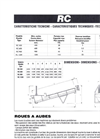 Model RC - Archimedean Screw Dewatering Reclaimer Technical Datasheet