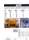 Model AVC - Vibrating Grizzly Feeders Technical Datasheet