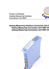 Logotronic - SNP - Gealog Measuring Interface Connection Units Brochure