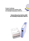 Logotronic - HMT337 - Gealog Measuring Interface SNP Air Temperature/Humidity Brochure