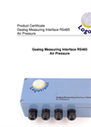 Logotronic - RS485 - Gealog Measuring Interface Air Pressure Brochure