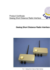 Logotronic - Gealog Short Distance Radio Interface Brochure