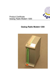 Logotronic - 1200 - Gealog Radio Modem for Radio Data Transfer Brochure