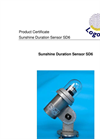 Logotronic - SD6 - Sunshine Duration Sensor with Base Holder Brochure