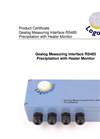 Logotronic - RS485 - Gealog Measuring Interface Precipitation with Heater Monitor Brochure