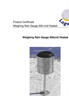 Logotronic - Heated Weighing Rain Gauge 500 cm² Brochure
