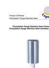 Logotronic - Precipitation Gauge Stainless Steel Brochure