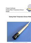 Logotronic - Gealog Water vTemperature Sensor RS485 Brochure