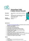 TechnoClean - S-600 - 6 Gallon Solvent Recycler Brochure