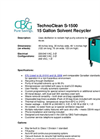 TechnoClean - S-1500 - 15 Gallon Solvent Recycler Brochure