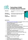 TechnoClean - S-3000 - 30 Gallon Solvent Recycler Brochure