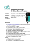 TechnoClean - S-6000T - 60 Gallon Solvent Recycler Brochure