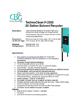 TechnoClean - F-2500 - 25 Gallon Solvent Recycler Brochure