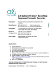 2.5 Gallon (10 Liter) - Benchtop Supreme Formalin Recycler Brochure