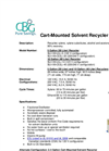 Cart-Mounted Solvent Recycler Brochure