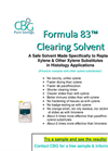 Formula 83 - Clearing Solvent Brochure