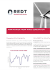 REDT - Wind Energy Storage Datasheet